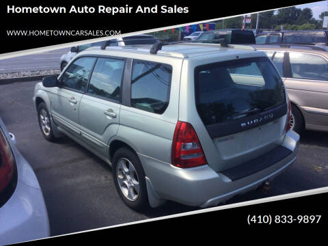 2005 Subaru Forester for sale at Hometown Auto Repair and Sales in Finksburg MD