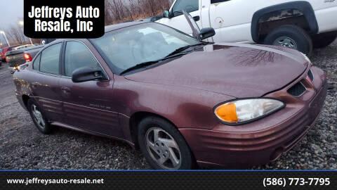 1999 Pontiac Grand Am for sale at Jeffreys Auto Resale, Inc in Clinton Township MI