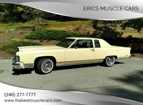 1979 Lincoln Continental for sale at Erics Muscle Cars in Clarksburg MD