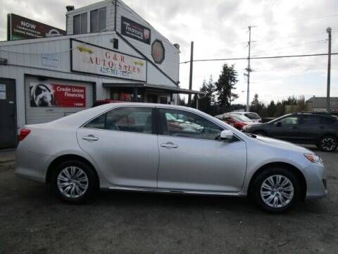 2013 Toyota Camry for sale at G&R Auto Sales in Lynnwood WA