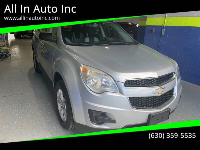 2011 Chevrolet Equinox for sale at All In Auto Inc in Addison IL