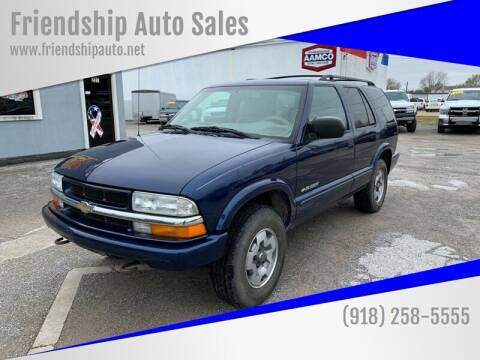 2004 Chevrolet Blazer for sale at Friendship Auto Sales in Broken Arrow OK
