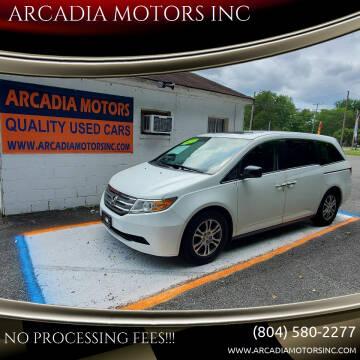 2013 Honda Odyssey for sale at ARCADIA MOTORS INC in Heathsville VA
