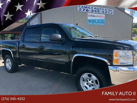 2012 Chevrolet Silverado 1500 for sale at FAMILY AUTO II in Pounding Mill VA