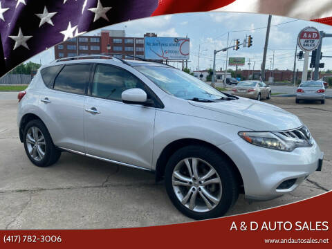2011 Nissan Murano for sale at A & D Auto Sales in Joplin MO