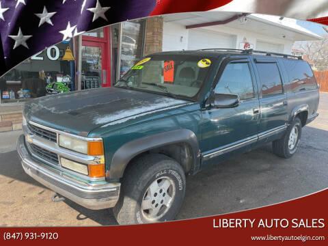 1995 Chevrolet Suburban for sale at Liberty Auto Sales in Elgin IL