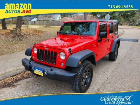 2015 Jeep Wrangler Unlimited for sale at Amazon Autos in Houston TX