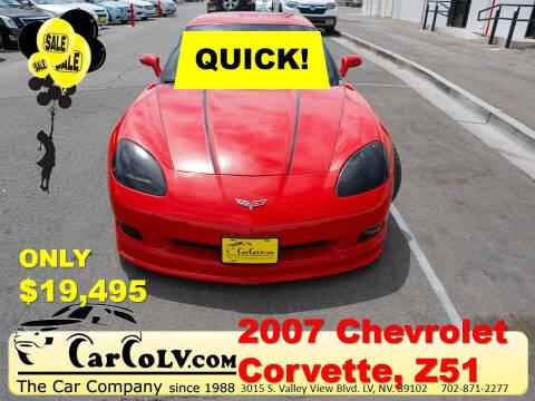 2007 Chevrolet Corvette for sale at The Car Company in Las Vegas NV