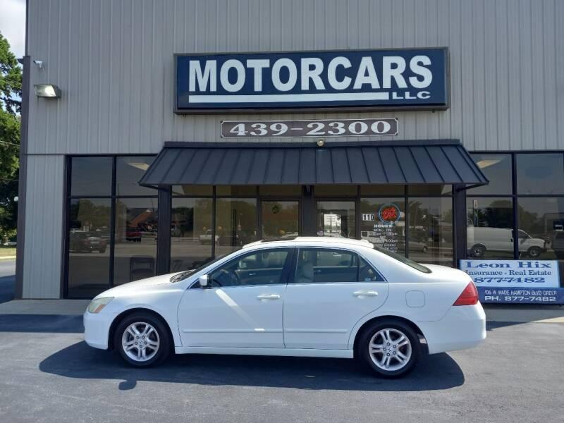 2007 Honda Accord for sale at MotorCars LLC in Wellford SC