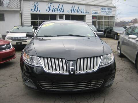 2009 Lincoln MKS for sale at B. Fields Motors, INC in Pittsburgh PA