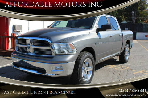 2011 RAM Ram Pickup 1500 for sale at AFFORDABLE MOTORS INC in Winston Salem NC