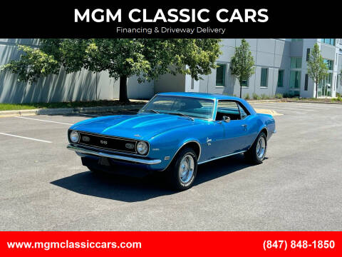 1968 Chevrolet Camaro for sale at MGM CLASSIC CARS in Addison IL