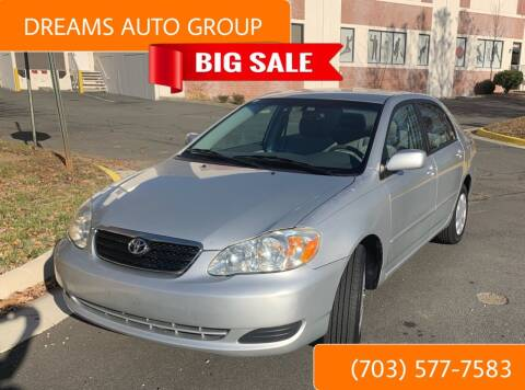 2005 Toyota Corolla for sale at Dreams Auto Group LLC in Sterling VA