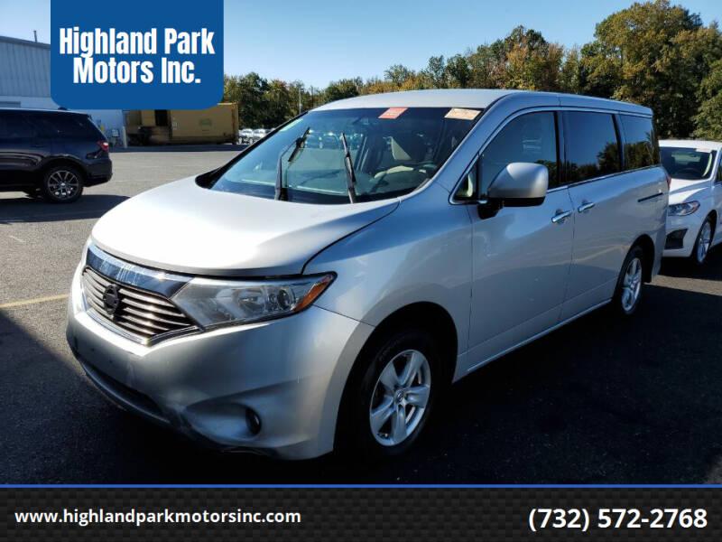 2015 Nissan Quest for sale at Highland Park Motors Inc. in Highland Park NJ