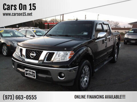 2013 Nissan Frontier for sale at Cars On 15 in Lake Hopatcong NJ