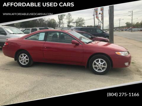 2001 Toyota Camry Solara for sale at AFFORDABLE USED CARS in Richmond VA