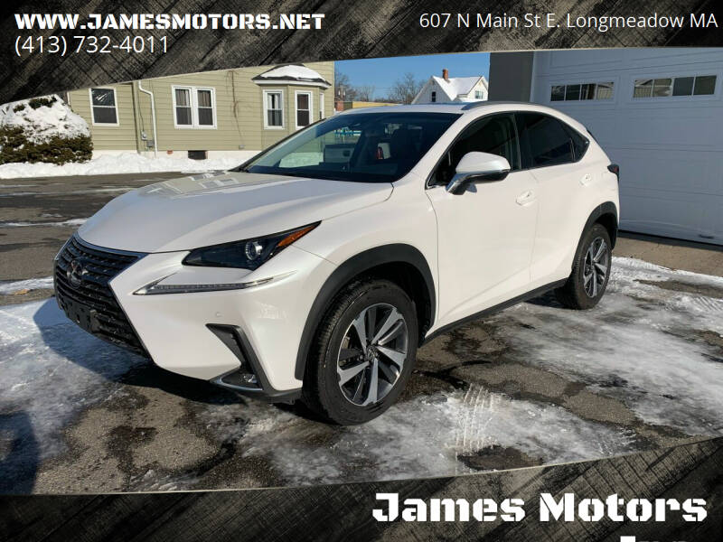 2019 Lexus NX 300 for sale at James Motors Inc. in East Longmeadow MA