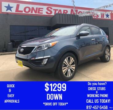 2015 Kia Sportage for sale at LONE STAR MOTORS II in Fort Worth TX
