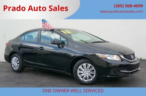 2013 Honda Civic for sale at Prado Auto Sales in Miami FL