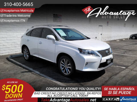 2015 Lexus RX 350 for sale at ADVANTAGE AUTO SALES INC in Bell CA
