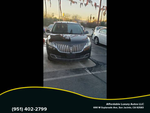 2012 Lincoln MKX for sale at Affordable Luxury Autos LLC in San Jacinto CA