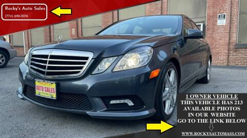 2010 Mercedes-Benz E-Class for sale at Rocky's Auto Sales in Worcester MA