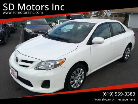 2012 Toyota Corolla for sale at SD Motors Inc in La Mesa CA