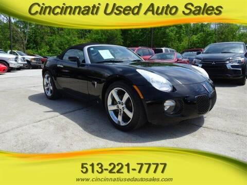2007 Pontiac Solstice for sale at Cincinnati Used Auto Sales in Cincinnati OH