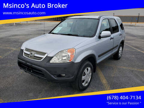 2004 Honda CR-V for sale at Msinco's Auto Broker in Snellville GA