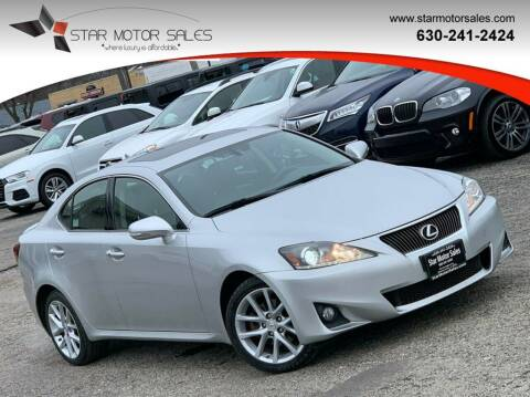 2012 Lexus IS 250 for sale at Star Motor Sales in Downers Grove IL