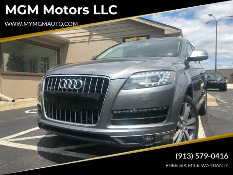 2012 Audi Q7 for sale at MGM Motors LLC in De Soto KS