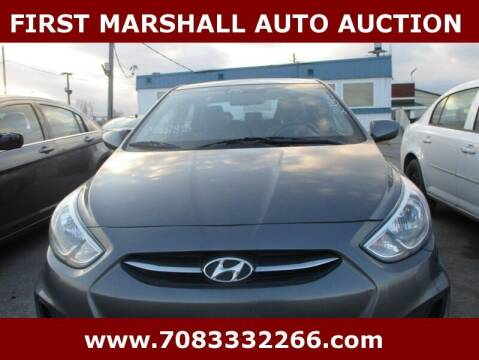2015 Hyundai Accent for sale at First Marshall Auto Auction in Harvey IL