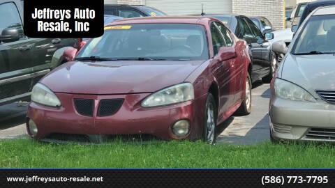 2004 Pontiac Grand Prix for sale at Jeffreys Auto Resale, Inc in Clinton Township MI