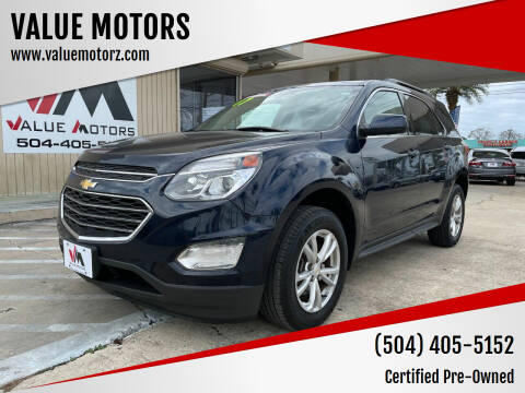 2017 Chevrolet Equinox for sale at VALUE MOTORS in Kenner LA