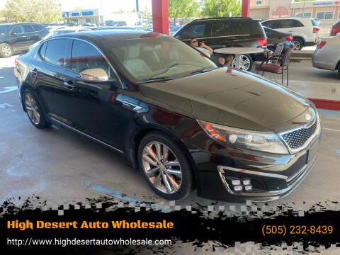 2014 Kia Optima for sale at High Desert Auto Wholesale in Albuquerque NM