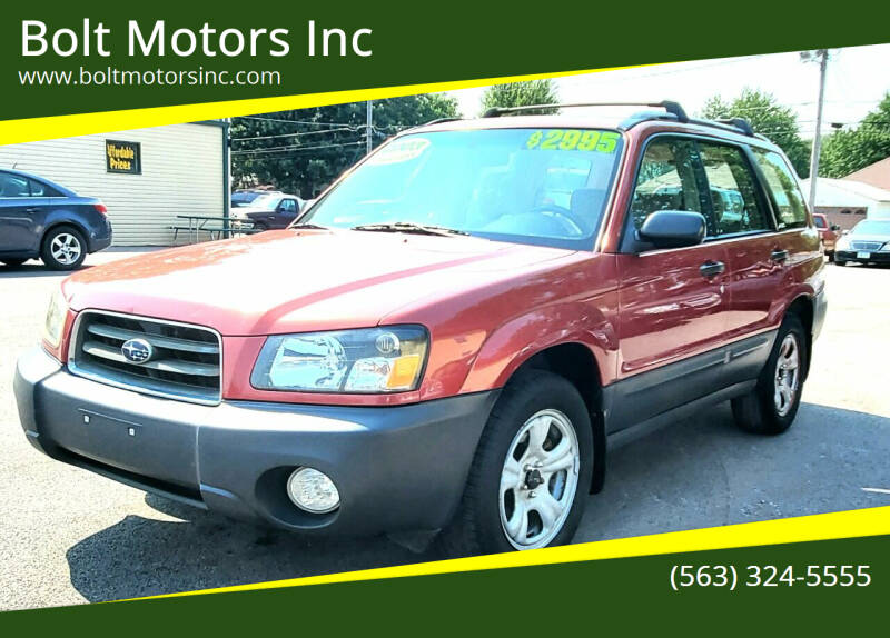 2003 Subaru Forester for sale at Bolt Motors Inc in Davenport IA