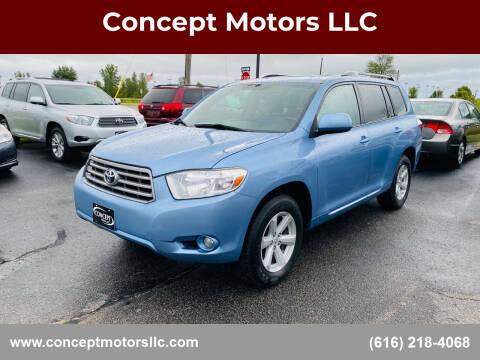 2010 Toyota Highlander for sale at Concept Motors LLC in Holland MI