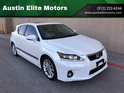 2012 Lexus CT 200h for sale at Austin Elite Motors in Austin TX