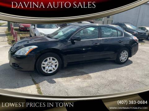 2011 Nissan Altima for sale at DAVINA AUTO SALES in Orlando FL
