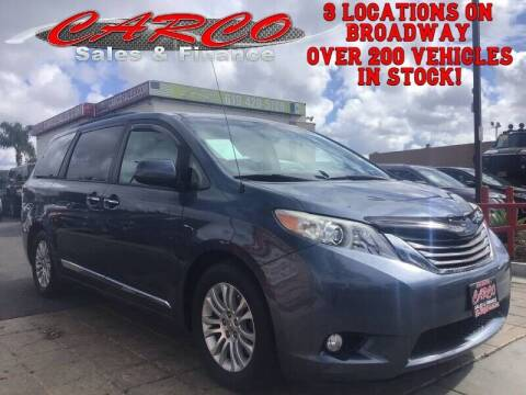 2013 Toyota Sienna for sale at CARCO SALES & FINANCE in Chula Vista CA
