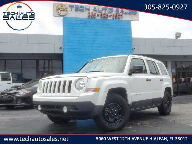2016 Jeep Patriot for sale at Tech Auto Sales in Hialeah FL