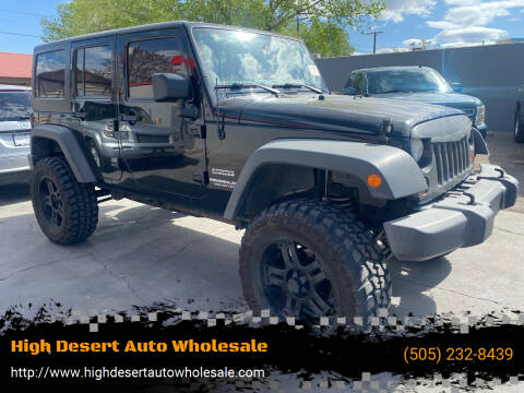 2013 Jeep Wrangler Unlimited for sale at High Desert Auto Wholesale in Albuquerque NM