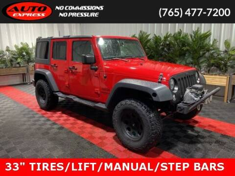 2015 Jeep Wrangler Unlimited for sale at Auto Express in Lafayette IN