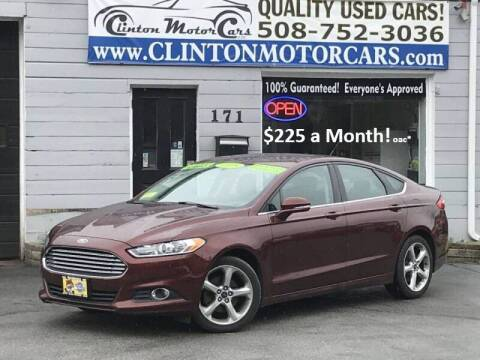 2015 Ford Fusion for sale at Clinton MotorCars in Shrewsbury MA
