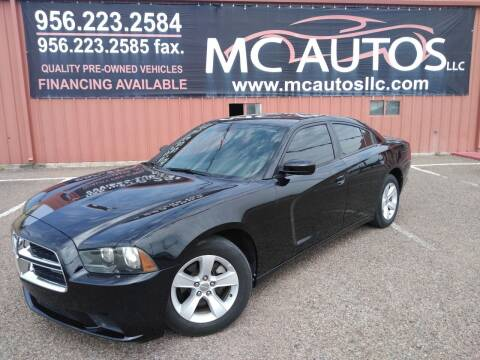 2012 Dodge Charger for sale at MC Autos LLC in Pharr TX