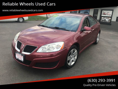 2009 Pontiac G6 for sale at Reliable Wheels Used Cars in West Chicago IL