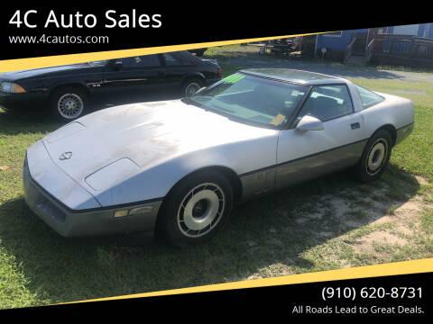 1985 Chevrolet Corvette for sale at 4C Auto Sales in Wilmington NC