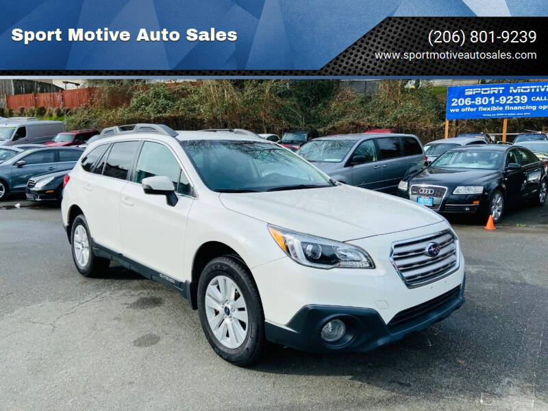 2016 Subaru Outback for sale at Sport Motive Auto Sales in Seattle WA