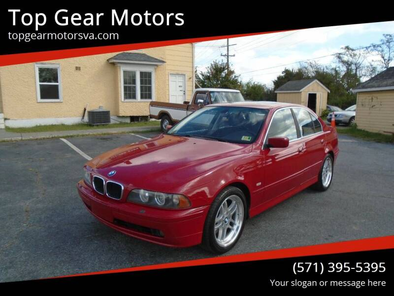 2003 BMW 5 Series for sale at Top Gear Motors in Winchester VA