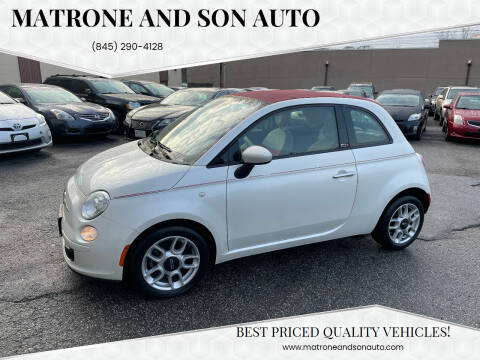 2015 FIAT 500c for sale at Matrone and Son Auto in Tallman NY